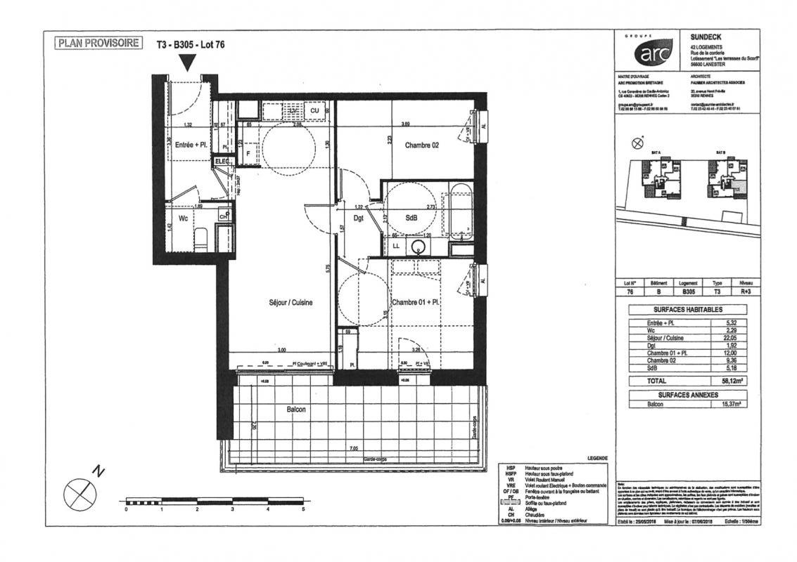 plan appartement B305